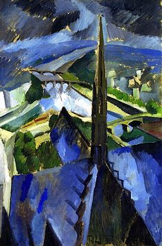 bofransson:  The Spire of Notre-Dame Robert Delaunay - circa 1909-1910