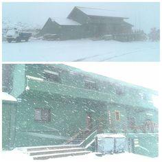 Llegó la nieve a #Lunada ... y sigue nevando.