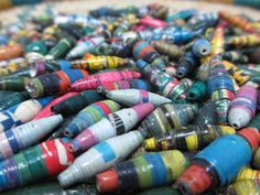 250 Multi-Colored Hand Rolled Paper Beads by NyakaGrandmotherShop