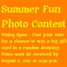 Repin or like your favorite photo from our Summer Photo Contest album on Pinterest for a chance to win! Be sure to leave a comment on our blog (click the photo) with your email address and link to your favorite pin to enter.