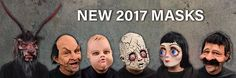 Zagone Studios has introduced 7 new masks for 2017.   MG1001 - Crack Baby (Doll)  MG1002 - Big Eyes  MG1003 - Baby Doll  MG1004 - Uncle Bobby  MG1005 - Nicky  MG1006 - Underworld Overlord  MG1007 - Johnny (Nicky's bald older brother) Zagone Studios