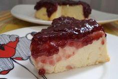 Cheesecake rápida de ricota com geléia