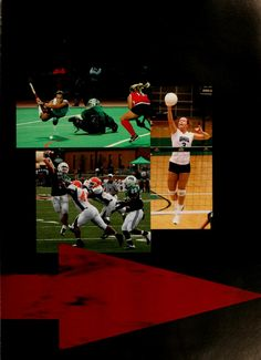Athena yearbook, 2007. Womens field hockey, womens volleyball and football are just three of the many sports Ohio University has to offer. :: Ohio University Archives