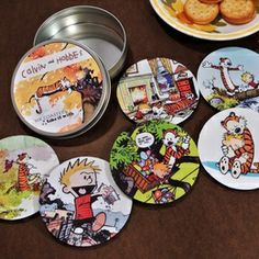 Completely unrelated. I just want these- Calvin and Hobbes Coaster Set #redditgifts