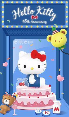 Hello Kitty Pictures, Kitty Images, Hello Kitty Backgrounds, Hello Kitty Wallpaper, Hello Sanrio, Sanrio Wallpaper, Sanrio Characters, Cat Stickers, Happy Birthday