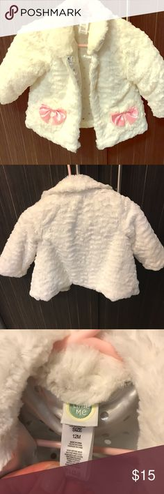 NEW Girls Size 18-24 Months Gymboree Furry Vest White Dressy 2017 Line NWT