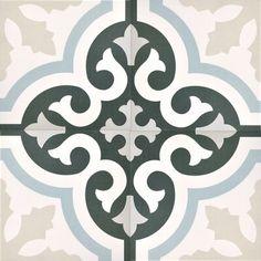 Decor Urban Calipso Pav Porcelain Wall and Floor Tile - 8 x 8 in. - The Tile Shop Bathroom Floor Tiles, Wall And Floor Tiles, Wall Tiles, Downstairs Bathroom, Kitchen Tile, Tile Art, Deco Retro, Urban Decor, The Tile Shop