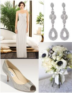 Tiana bridesmaid dress and Samantha Wills earrings Available at info@bridesmaidsonly.com.au  Stunning oyster bridesmaid dress, perfect with a bouquet of contrasting blooms!