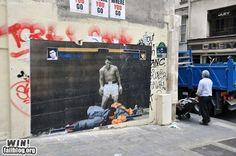 ストリートアート「モハメド・アリvsストリートファイター」が凄い!