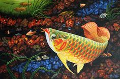 Buy 'The Beauty' today. Shop unique, award-winning Artisan treasures by NOVICA, the Impact Marketplace. Each original piece goes through a certification process to guarantee best value and premium quality. Colorful Fish, Tropical Fish, Dragon Fish, Fish Artwork, Wall Art Prints, Canvas Prints, African Cichlids, Aquarium Fish, Freshwater Aquarium