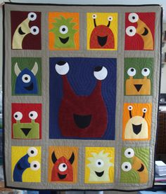 Eek! Monster quilt! I want to make a monster quilt for my grandson :-) I think he would always love it.