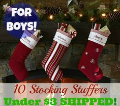 10 Stocking Stuffers for Boys Under $3 SHIPPED!