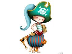Le pirate et le chat - Sticker