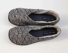 RESERVEES - Pantoufles Kimono en coton japonais grandes vagues. : Chaussures par…