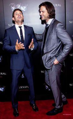 Beautiful boys in suits. Jensen Ackles and Jared Padalecki.