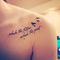 """""""inhale the future exhale the past""""  Love the placement and saying."""