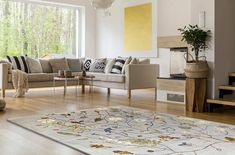 Hand knotted rug, New Zealand Merino Wool & Bamboo Silk/ x ft/ 140 x 175 cm/ designed by Mimmi Blomqvist for Junior Monarch Best Weave, Bamboo Crafts, Kids Decor, Home Decor, Hand Knotted Rugs, Knots, Scandinavian, Trending Outfits, Modern