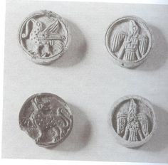 10th-11th Century Western Europe, Bone gaming pieces. Thanks to Antonia Diacci on games for pinning this.