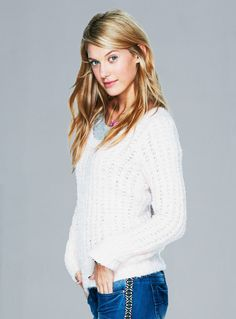 Solid Pointelle Eyelash Sweater