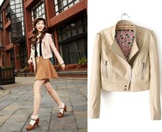 Aliexpress.com : Buy 2013 fashion autumn slim cardigan design short outerwear patchwork long sleeve zipper PU leather clothing outerwear female from Reliable spring fashion style suppliers on coraldaisy.