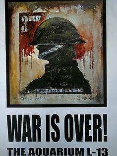 James Cauty - War is over!  Terror Aware queen QE2, poster. Banksy peer mentor..