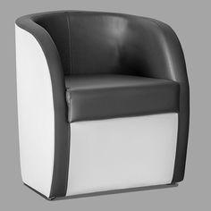 Fauteuil baroque de style louis xv ray noir et blanc et bois noir - Fauteuil cabriolet noir et blanc ...
