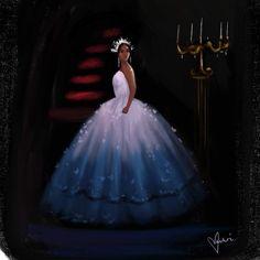 Black Love Art, Black Girl Art, Black Is Beautiful, Black Girl Magic, Beautiful Oops, Black Disney Princess, Drawings Of Black Girls, Arte Black, Black King And Queen