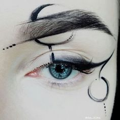 48 Ideas Body Art Halloween Make Up Makeup Inspo, Makeup Art, Makeup Inspiration, Makeup Drawing, Makeup Ideas, Cosplay Makeup, Costume Makeup, Crazy Makeup, Makeup Looks