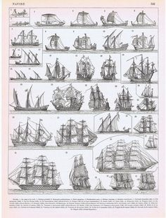 Old Ships Antique Print 1897 Vintage Lithograph by Craftissimo, Old Sh. - Old Ships Antique Print 1897 Vintage Lithograph by Craftissimo, Old Ships Antique Print 1 - Old Sailing Ships, Sail Away, Ship Art, Boat Plans, Tall Ships, Model Ships, Antique Prints, Water Crafts, Vintage Posters