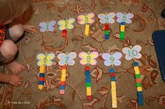 Butterfly counting with Unifix Cubes