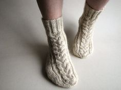 Hand Knitted Men's Socks  For Him  100 Natural Organic by milleta, €29.00