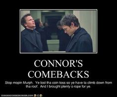 The Boondock Saints Conner and his rope The Boondock Saints 2, Movie Quotes, Funny Quotes, Saints Memes, Sean Patrick Flanery, All Saints Day, Boondocks, About Time Movie, Daryl Dixon