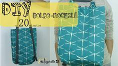 DIY Tutorial Bolso-Mochila en 20 minutos, con entretlea rígida y sin forrar.