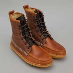 57ef5b26972 Oi Polloi x Quoddy Grizzly Boot Brown Canvas