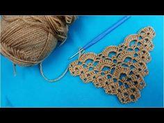 Beaded Flowers Patterns, Crochet Motif Patterns, Baby Knitting Patterns, Knitting Yarn, Crochet Stitches, Knit Crochet, Crochet Shawl, Crochet Boarders, Crochet Triangle