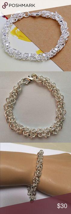 Brilliant Silver Twist Chain Bracelet Brilliant Silver Twist Chain Link Bracelet. Rhodium plated for a platinum finish. Jewelry Bracelets