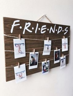 This article is not available - Friends TV Show Wood Picture / Polaroid Display. - This article is not available – Friends TV Show Wood Picture / Polaroid Display with Clips – - Cute Room Decor, Room Decor Bedroom, Diy Room Decor For Girls, Diy Room Ideas, Diy Room Decor For College, Art Ideas, Wood Room Ideas, Diy Dorm Room, Dorms Decor