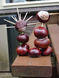Mevrouw Blommekes: Creatief met kastanjes.