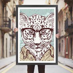 Placa decorativa leopardo - StickDecor | Decoração Criativa