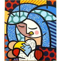 Quadro Tela - Painel Mother - Romero Britto - R$ 245,00 no MercadoLivre