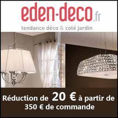 #missbonreduction; Réduction de 20€ dès 350€ d'achat chez Eden Deco, non cumulable avec les promotions et les soldes, sans frais de port.http://www.miss-bon-reduction.fr//details-bon-reduction-Eden-Deco-i852556-c1839002.html