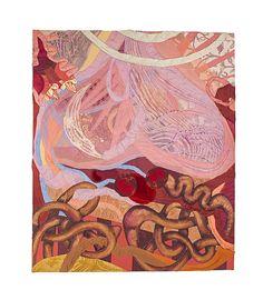 """Soft Painting: Saco"" Painel feito com tecidos em chassis (panel made of fabrics on wooden frame) - 105x93cm - 2013"