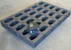 Dunnage Example Foam Packaging, Packaging Design, Cube, Tray, Trays, Design Packaging, Package Design, Board