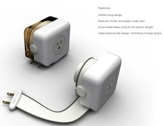 Retractable Tape Cord is a power extension cord.