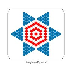 Beady Beads - Star 3e. Perler / Hama / Fusion / Melty / Pyssla Beads. Free Pattern Card! Visit my blog for more free patterns.