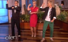 "Ellen DeGeneres surprised Britney Spears with a dance lesson from ""Gangnam Style"" singer Psy."
