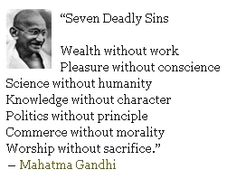 Great quote by Gandhi.