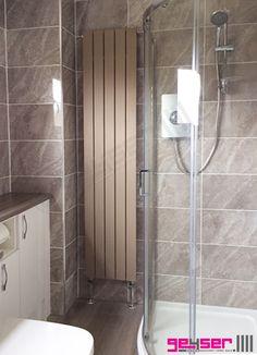"Geyser ""MURO"" Mocha (Textured Sand Brown) Flat Panel Designer Radiator #designerradiator #brownradiator #flatpanelradiator #electricradiator"