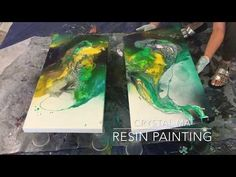 Resin painting - 1st layer - YouTube