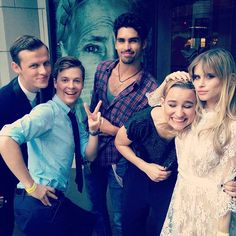 Connor Weil, John Karna, Tom Maden, Bex Taylor-Klaus, and Carlson Young